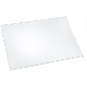 Läufer 43600 Durella transparent glasklar, durchsichtige Schreibtischunterlage 39x60 cm, transparente Schreibunterlage für hohen Schreibkomfort