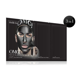 Double Dare Maske OMG! Man OMG! Man in Black Peel Off Mask Kit