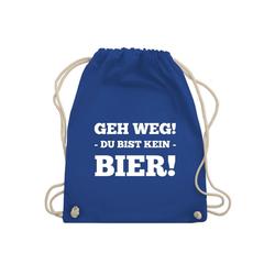 Shirtracer Turnbeutel Geh Weg! Du bist kein Bier! - Turnbeutel