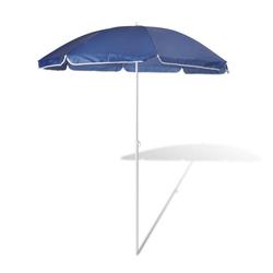 vidaXL Sonnenschirm 180cm Sonnenschirm Strandschirm Schirm blau