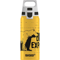 Sigg Trinkflasche Alu-Trinkflasche WMB ONE Brave Bear, 600 ml gelb