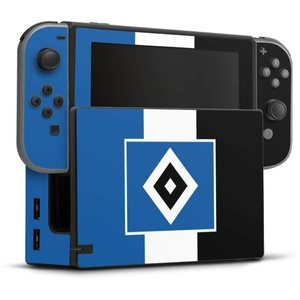 DeinDesign Skin kompatibel mit Nintendo Switch Folie Sticker HSV Streifen Hamburger SV