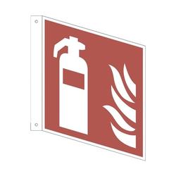 Sicherheitskennzeichen »Feuerlöscher [F001]« Fahnenschild 15 x 0,1 x 15 cm mehrfarbig, OTTO Office, 15x15 cm