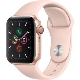 Apple Watch Series 5 GPS + Cellular 40 mm Aluminiumgehäuse gold, Sportarmband sandrosa