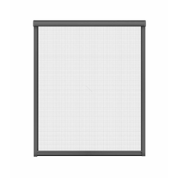 Insektenschutz-Rollo für Fenster, 130 x 160 cm in anthrazit