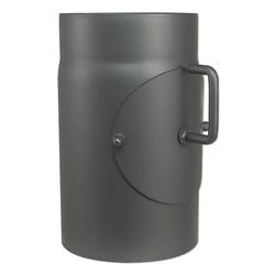 Abgasrohr für Kaminofen Länge 250 mm Ø 150 mm - mit Tür und Drosselklappe - 80345002