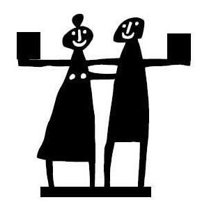 Bengt & Lotta Couple schwarz Kerzenständer Höhe 10,5 cm