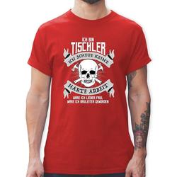 Shirtracer T-Shirt Ich bin Tischler - Handwerk - Herren Premium T-Shirt - T-Shirts tieflochmarker XXL