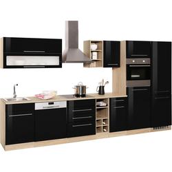 HELD MÖBEL Küchenzeile Eton, ohne E-Geräte, Breite 360 cm schwarz