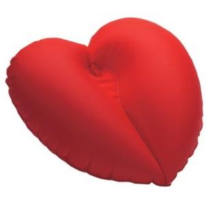 Dr. Winkler 432 Badewannenkissen aufblasbar in Form eines Herz mit einem Saugnapf, rot