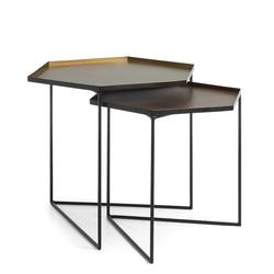 Beistelltisch aus Metall sechseckige Tischform (2-teilig)