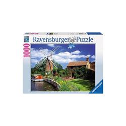Ravensburger Puzzle Puzzle 1000 Teile, 70x50 cm, Malerische Windmühle, Puzzleteile