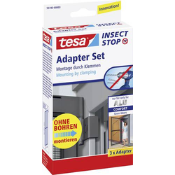 Tesa 55193-03 Adapter Alu Comfort Fliegengitter Adapter-Set Passend für Marke Tesa Fliegengitter 3S