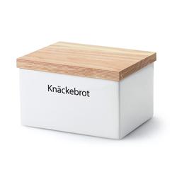 CONTINENTA Vorratsdose mit Holzdeckel 17,5 x 13,5 x 11 cm Knäckebrotbox