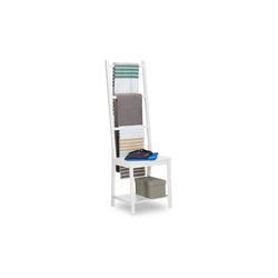 relaxdays Handtuchhalter Handtuchhalter aus Bambus weiß