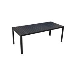 Outsunny Gartentisch Gartentisch mit Aluminium-Rahmen