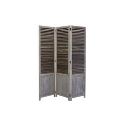 Homestyle4u Paravent, grauer Raumtrenner Innenbereich -3-teilig-, 120x170 cm
