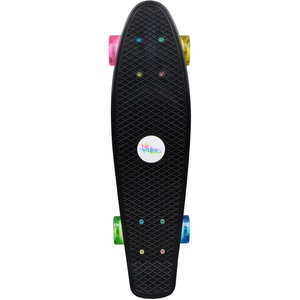 Skateboard Fun, No Rules, NEON mit Leuchtrollen