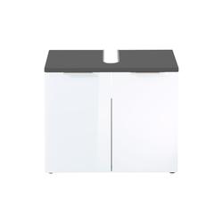 Germania Waschbeckenunterschrank Pescara in weiß Glas/graphit