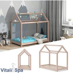 VITALISPA Hausbett WIKI Weiß Kinderbett Kinderhaus Kinder Bett Holz Matratze