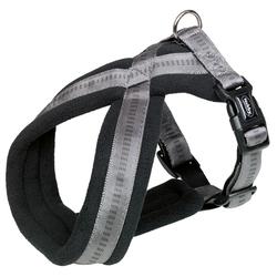 Nobby Komfort Geschirr Soft Grip dunkelgrau, Bauchumfang: 30-40 cm