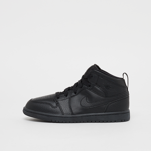 Air Jordan 1 Mid (PS) Schwarz Kinder 34