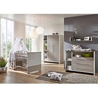 Schardt Kinderzimmer Eco Silber 3-tlg. mit 2-türigem Schrank