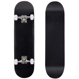 DREAMADE Skateboard Komplettboard Ahornholz, Holzboard Longboard Komplett, Mini Board Funboard 79 x 20 cm, Farbewahl (Schwarz)