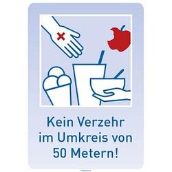 SafetyMarking® Hinweisaufkleber - Kein Verzehr im Umkreis von 50 Metern!