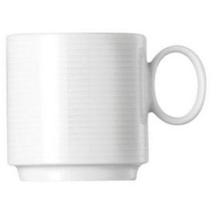 Thomas Porzellan Tasse Loft by Rosenthal Weiß Espresso-Obertasse stapelbar (1-tlg)
