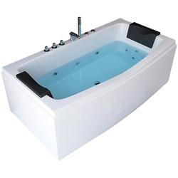 HOME DELUXE Whirlpool-Badewanne Noor, (3-tlg), B/H/T 170 / 80 / 84 cm