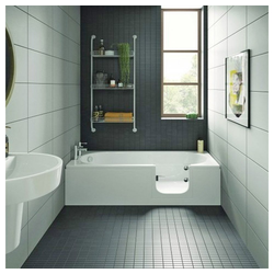 HAK Badewanne CASCADE, Badewanne mit Tür, 169,5x70 cm, rechts