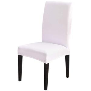 Souarts Stuhlhussen Stretch Stuhlbezug Hussen für Stühle Bi-Elastic Stuhlüberzug für Esszimmer Universell Schwarz Weiss 1er/2er