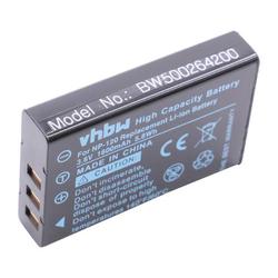 vhbw Akku passend für Silvercrest HD-Camcorder SCAZ 5.00 A1 (LIDL IAN 67099), SCAZ 5.00 B2 (LIDL IAN: 75981) Kamera (1600mAh, 3.7V, Li-Ion)