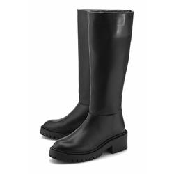 Klassische Stiefel Plateau-Stiefel COX schwarz