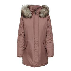 ONLY Einfarbiger Parka Damen Rot Female S