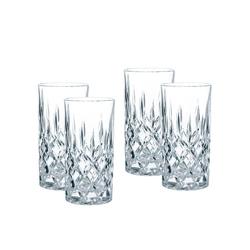 Nachtmann Longdrinkglas 4er Set Noblesse Gläser, Kristallglas, mit edlem Schliff Longdrinkgläser, Kristallglas