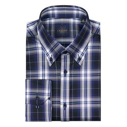 Lavard Herrenhemd mit einem Karo-Muster Lavard Gold 93170