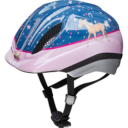 Pferdefreunde Fahrradhelm Meggy Originals rosa/blau Gr. 52-58