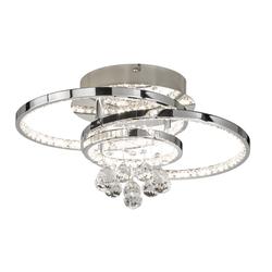 Wofi LED-Deckenleuchte Medley in chromfarbig, 45 cm