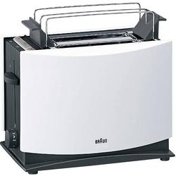 Braun HT450 Toaster mit Brötchenaufsatz Weiß, Schwarz