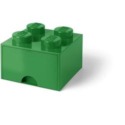 Room Copenhagen Aufbewahrungsbox Lego - Aufbewahrungsbox im Legostein Design mit einer Schublade - grün