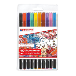 EDDING Pinselstift Tangle-Brushpen-Set, 10 tlg