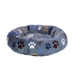 Nobby Tierbett HundeDonut Classic Lissi grau S - 50 cm x 50 cm x 13 cm