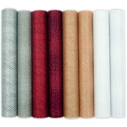 Funkelnder Dekostoff aus Nylon - versch. Farben - 30 x 500 cm - Bastelstoff Tischläufer Organza
