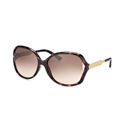 Gucci GG 0076S 003, Cat Eye Sonnenbrille, Damen