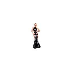 Saresia Wetlook-Kleid Mermaid black