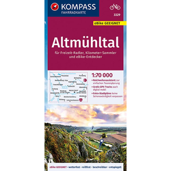 KOMPASS Fahrradkarte Altmühltal 1:70.000 FK 3329