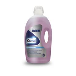 Coral Professional Bunt- & Feinwaschmittel, Flüssiges Waschmittel für Bunt- und Feinwäsche - ohne Bleichmittel, 5 l - Flasche für ca. 67 Wäschen