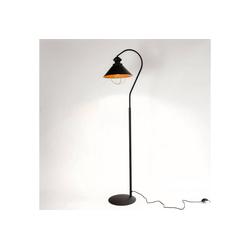 Licht-Erlebnisse Stehlampe LOFT Braune Stehlampe Industrie Stil Vintage Kupfer Wohnzimmer Lampe